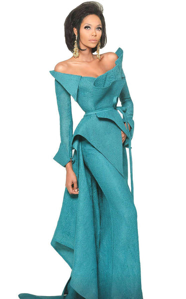 MNM Couture 2540 Dress Petrol