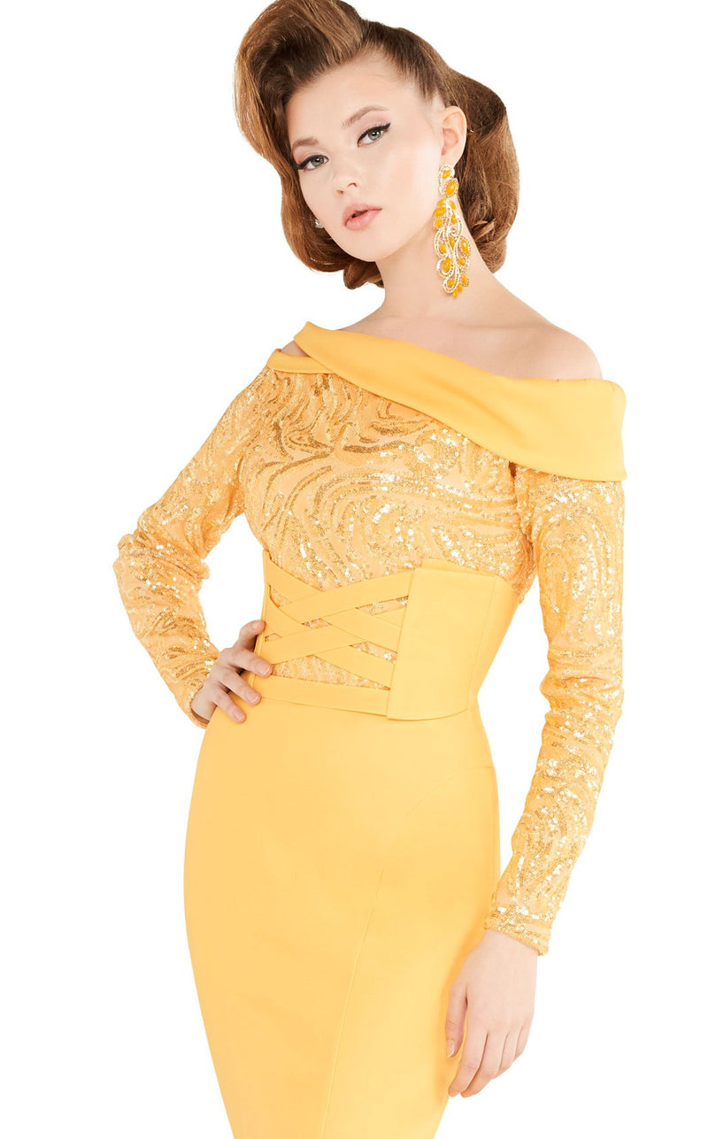 MNM Couture 2578 Dress Yellow