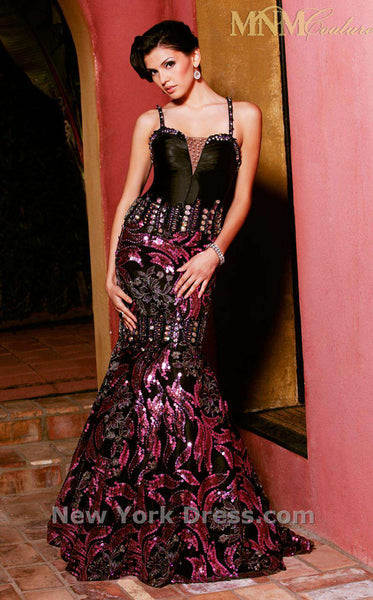 MNM Couture 6682 Black/Purple