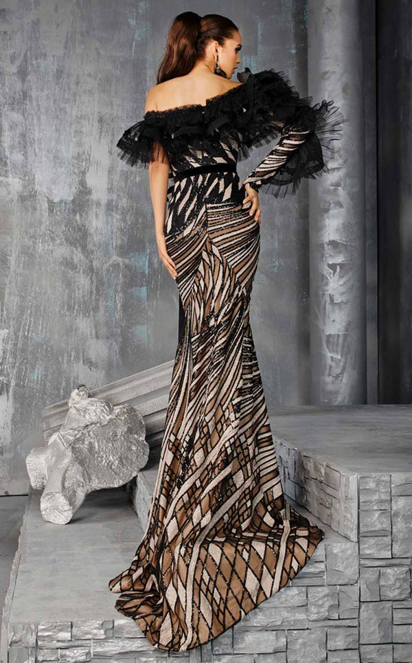 MNM Couture 2615 Dress Black-Nude