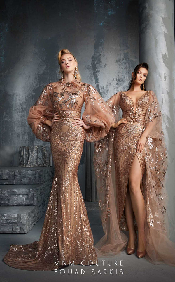 MNM Couture 2637 Dress Gold