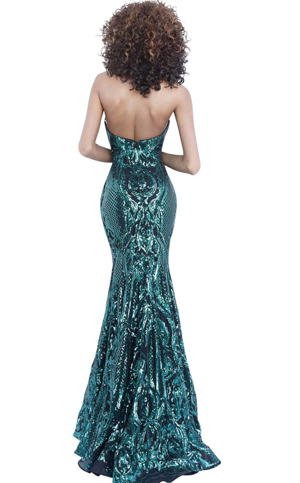 Jovani 2670 Black-Green