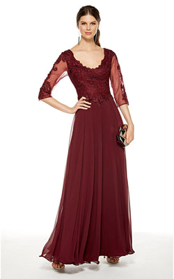 Alyce 27385 Dress Black-Cherry