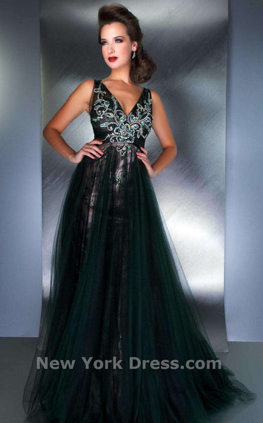 Mac Duggal 78718D Bottle Green