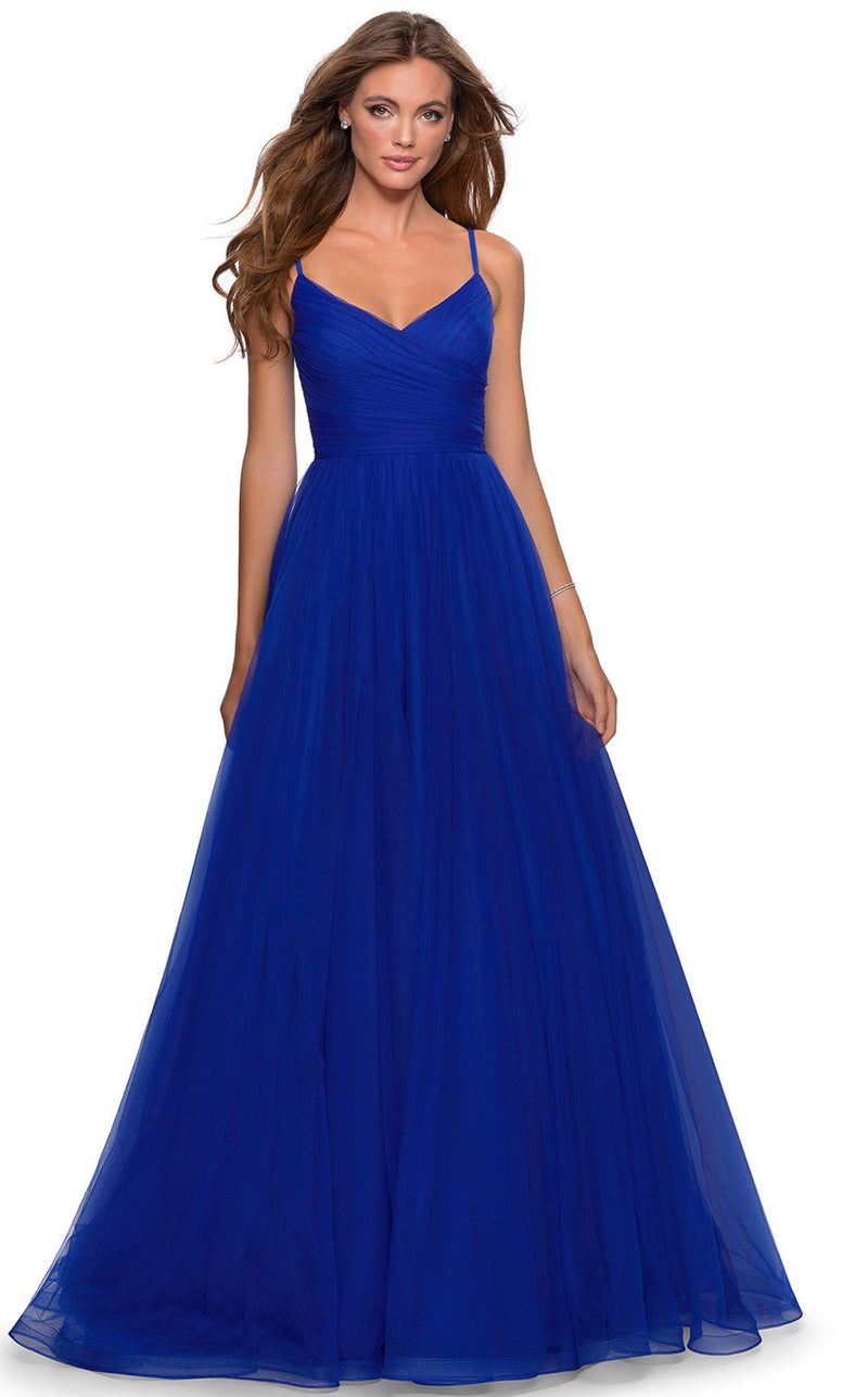 La Femme 28123 Dress Electric-Blue