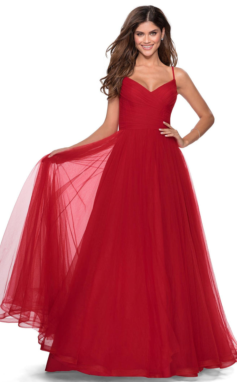 La Femme 28123 Dress Red