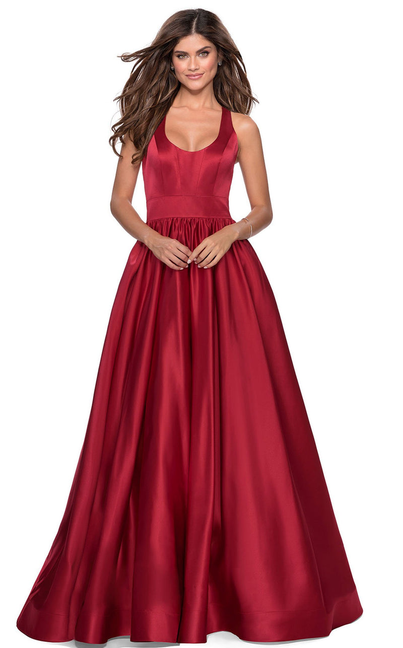La Femme 28281 Dress Deep-Red