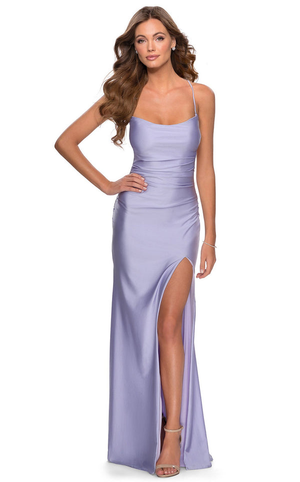 La Femme 28296 Dress Light-Periwinkle