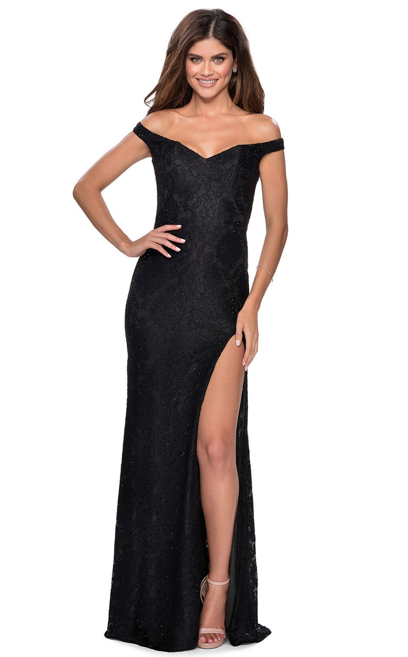 La Femme 28301 Dress Black