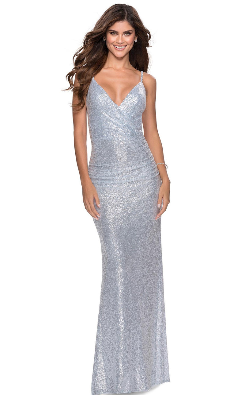 La Femme 28335 Dress Light-Blue