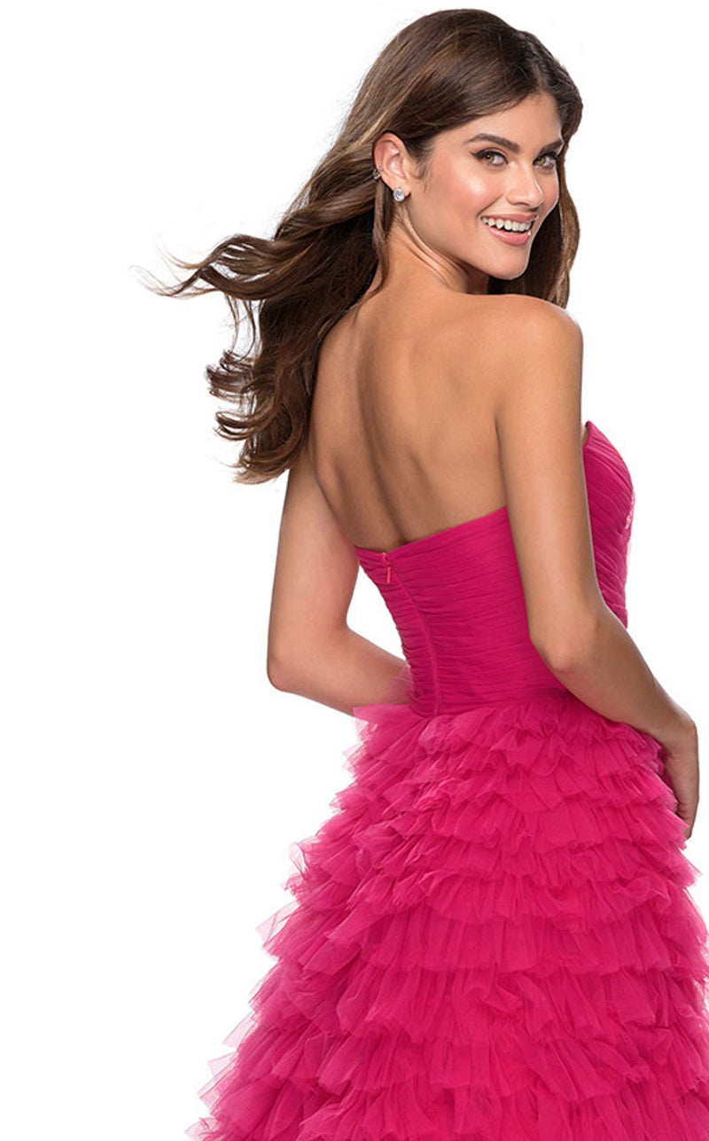 La Femme 28345 Dress Hot-Pink