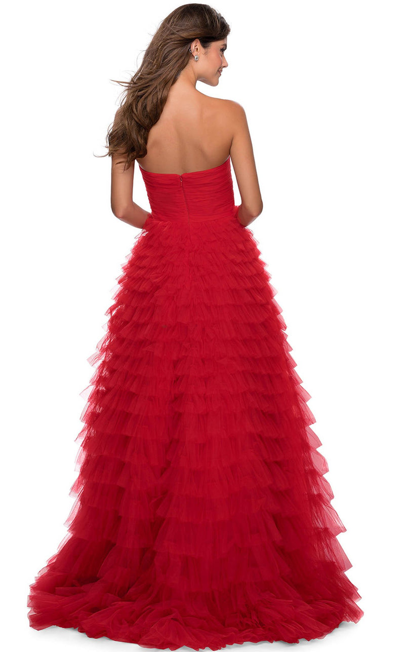 La Femme 28345 Dress Red