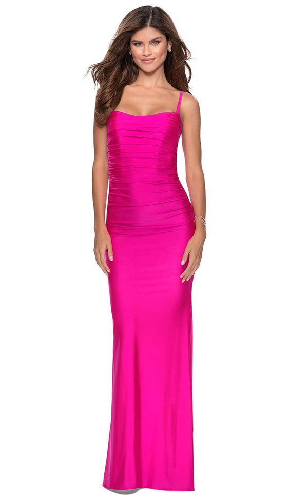 La Femme 28398 Dress Hot-Pink