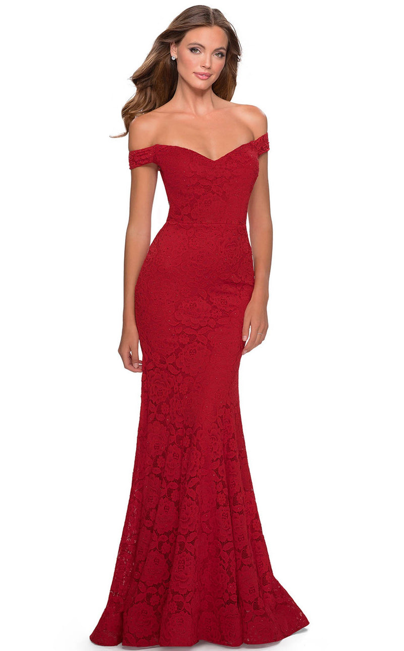 La Femme 28545 Dress Red