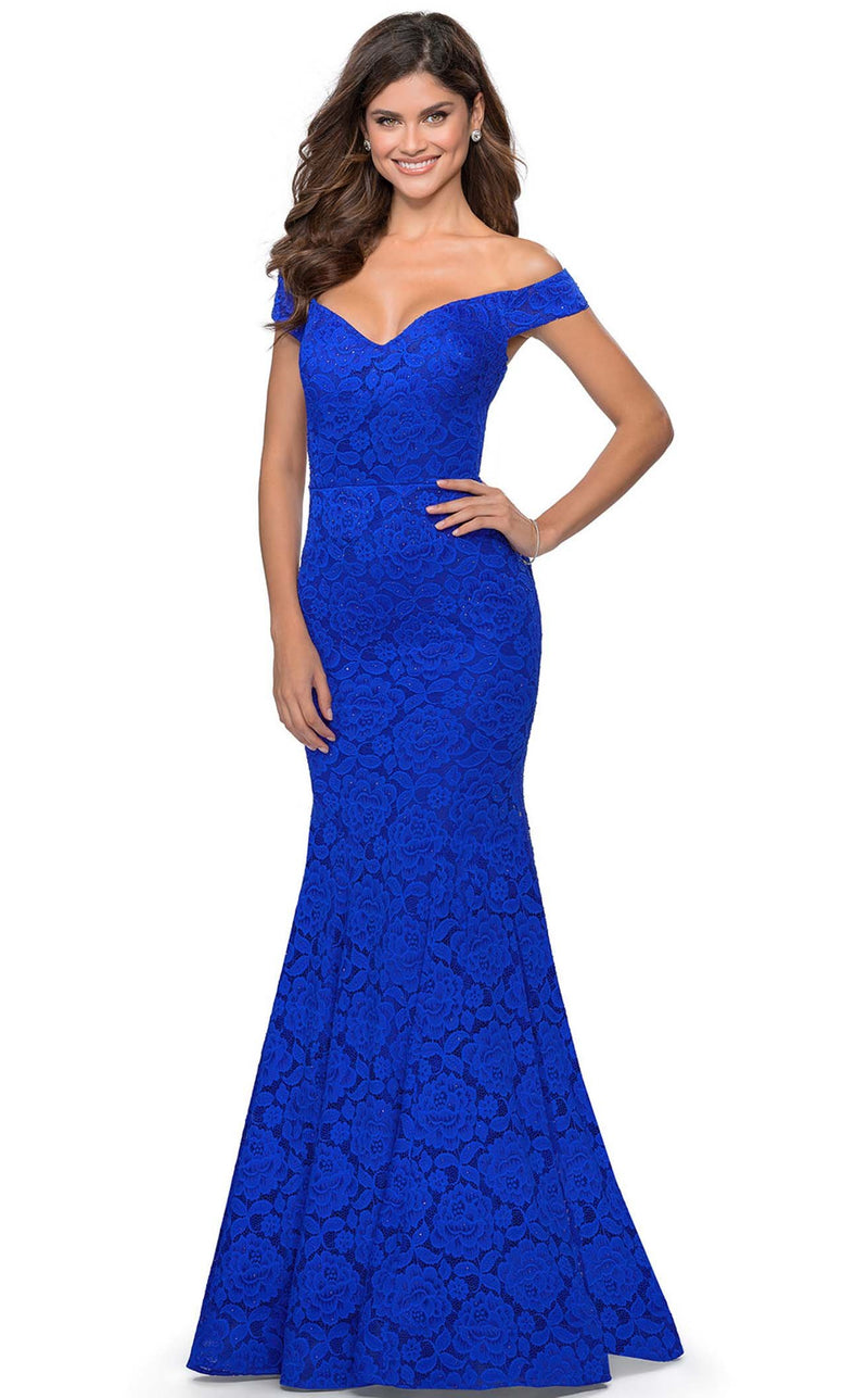 La Femme 28545 Dress Royal-Blue