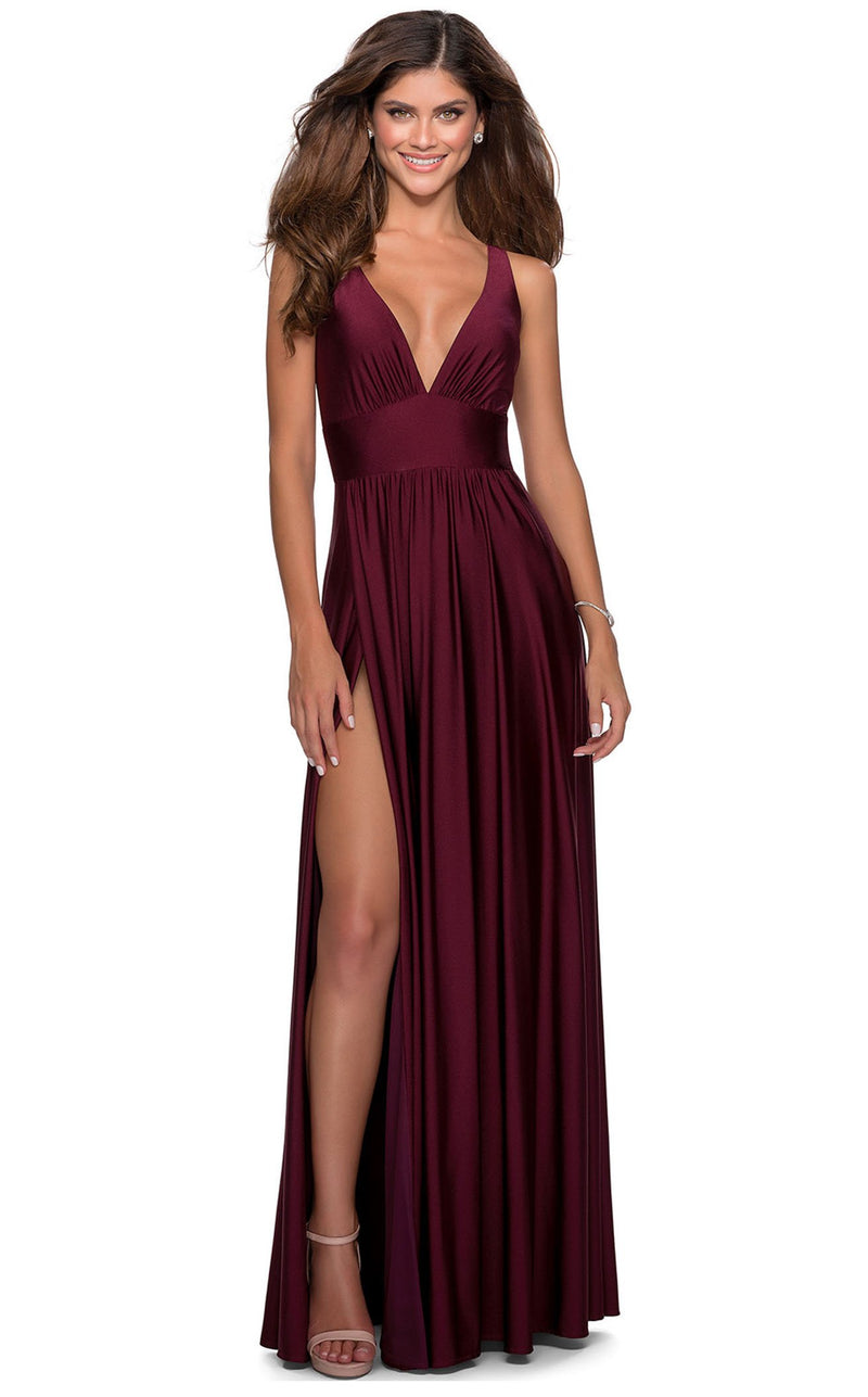 La Femme 28547 Dress Dark-Berry