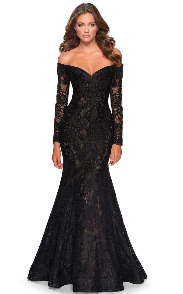 La Femme 28569 Dress Black