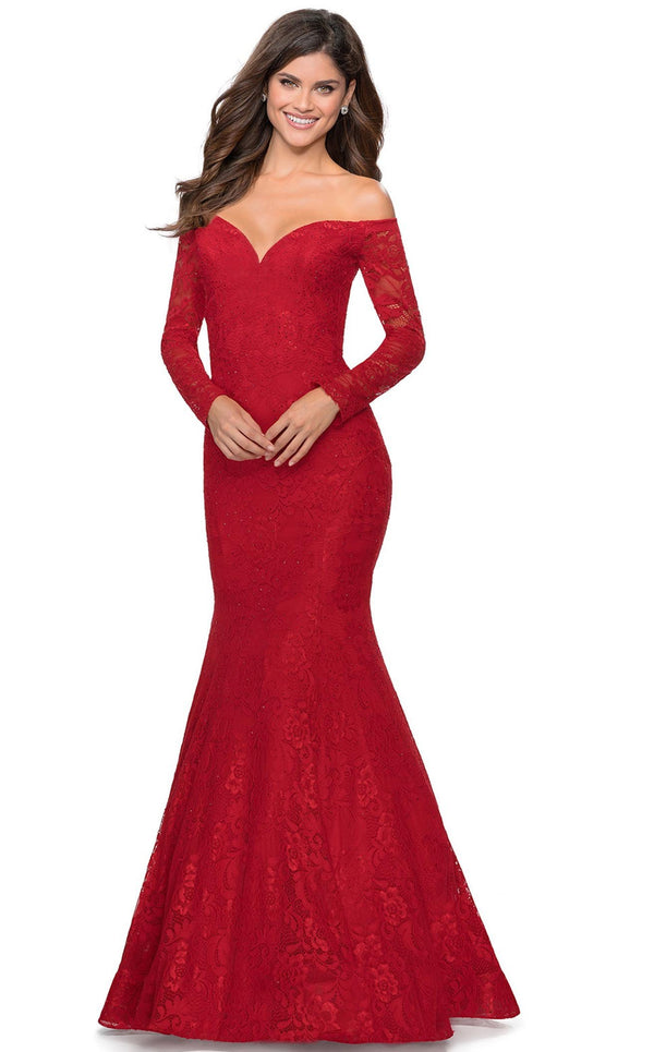 La Femme 28569 Dress Red