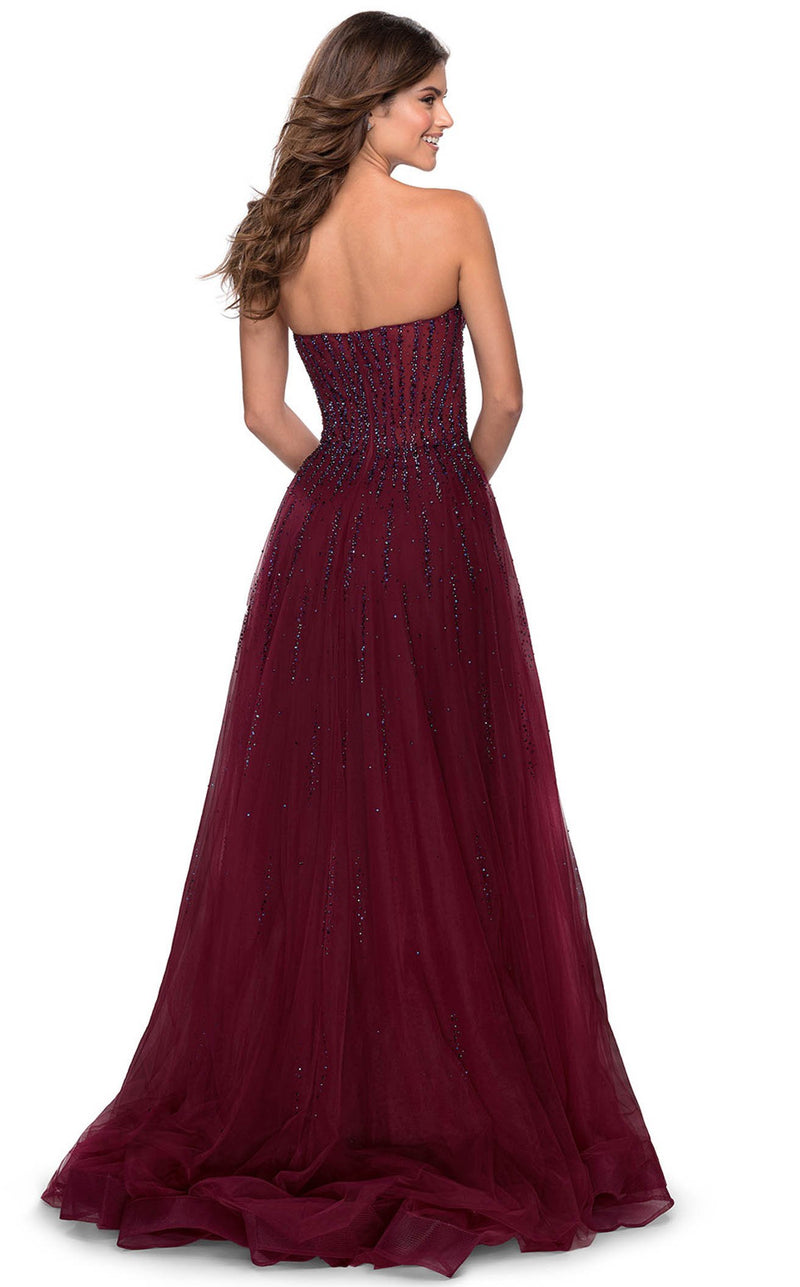 La Femme 28603 Dress Dark-Berry
