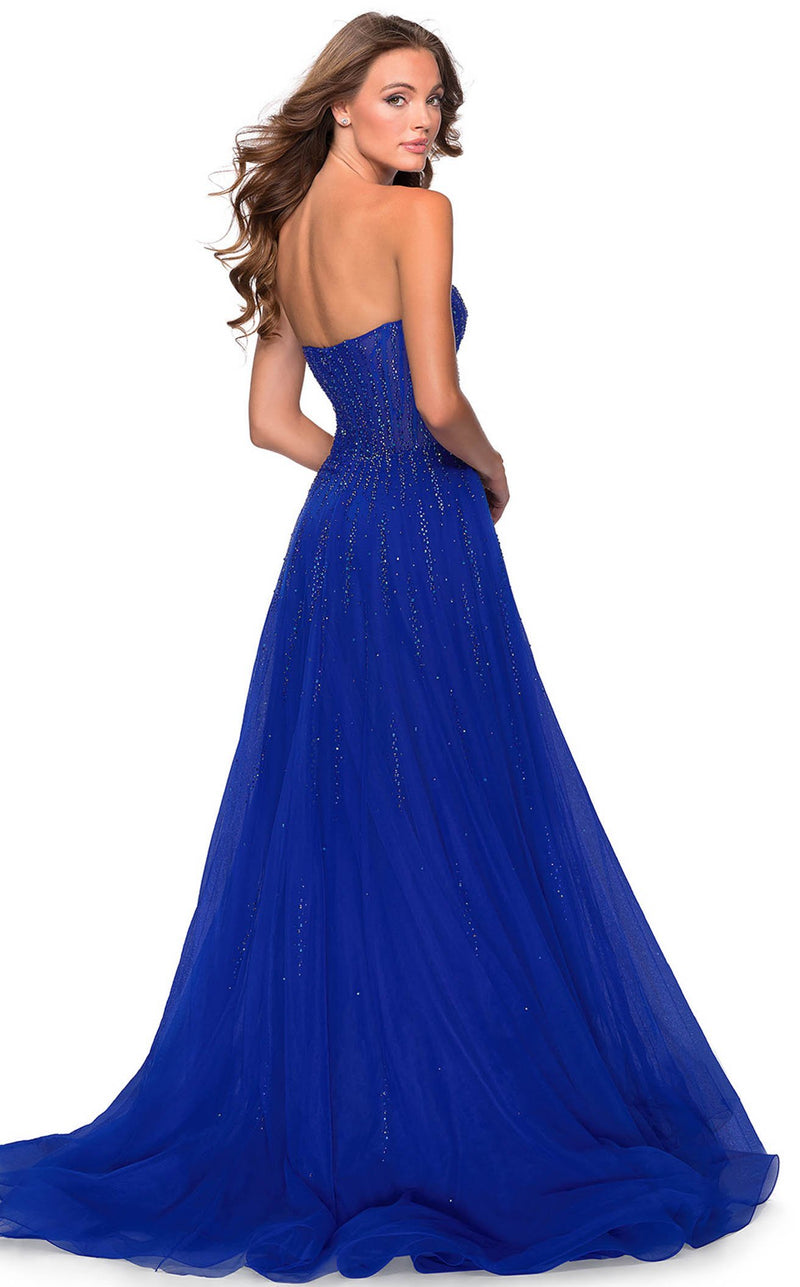 La Femme 28603 Dress Royal-Blue