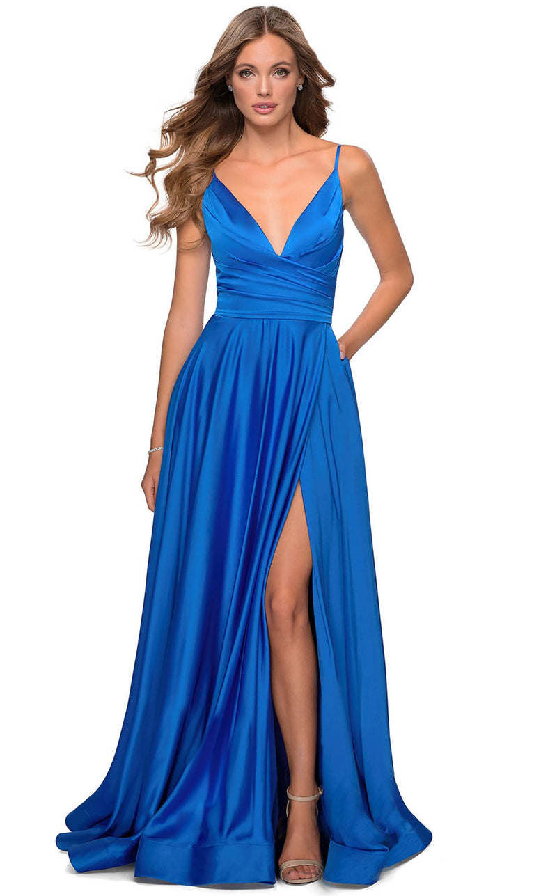 La Femme 28607 Dress Royal-Blue