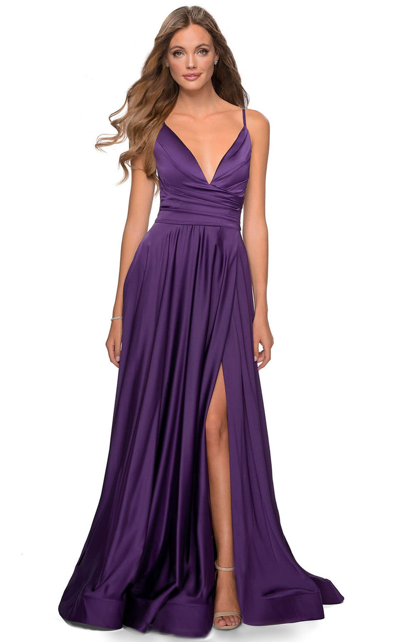 La Femme 28607 Dress Royal-Purple