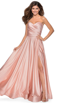 La Femme 28608 Dress Blush