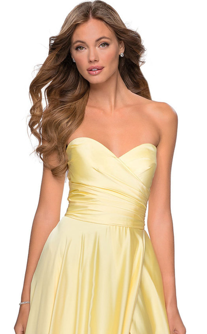La Femme 28608 Dress Pale-Yellow