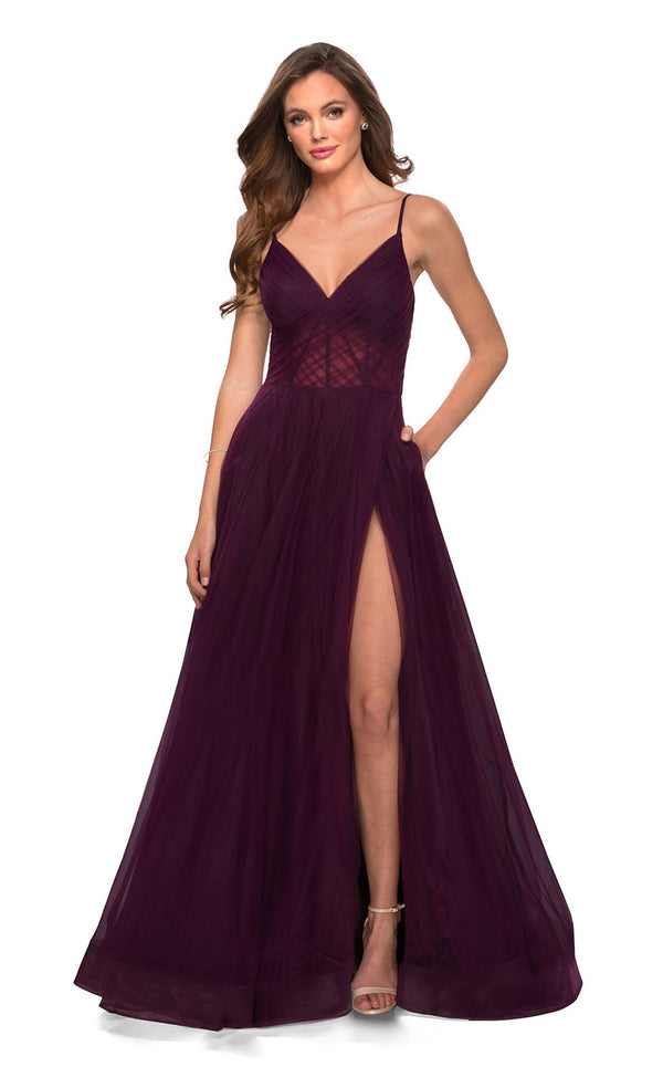 La Femme 29076 Dress Dark-Berry