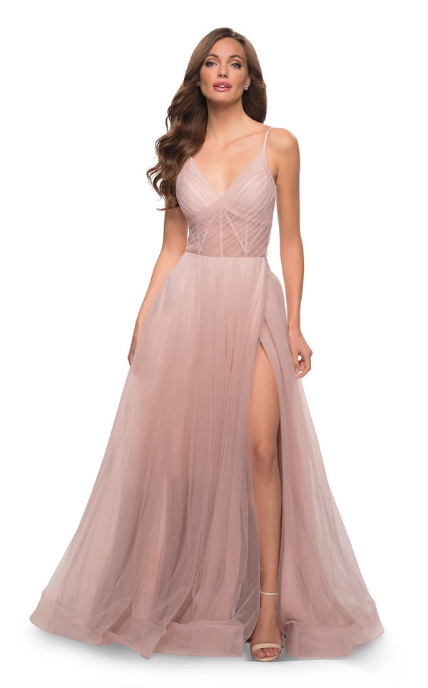 La Femme 29076 Dress Dusty-Mauve