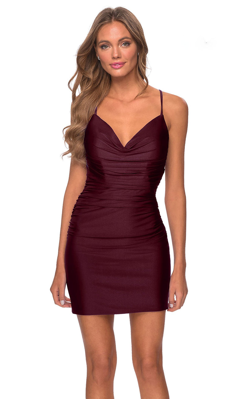 La Femme 29260 Dress Dark-Berry