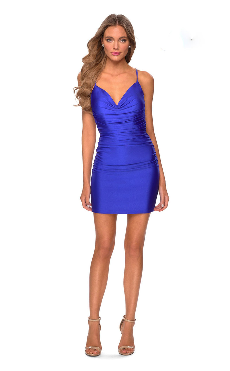 La Femme 29260 Dress Royal-Blue