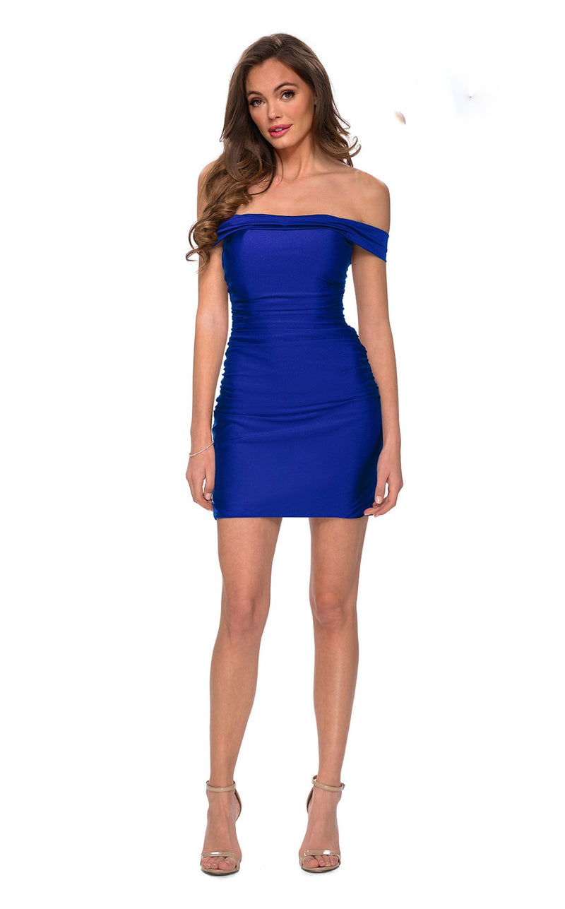 La Femme 29268 Dress Royal-Blue