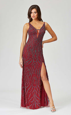 Lara 29374 Dress Wine
