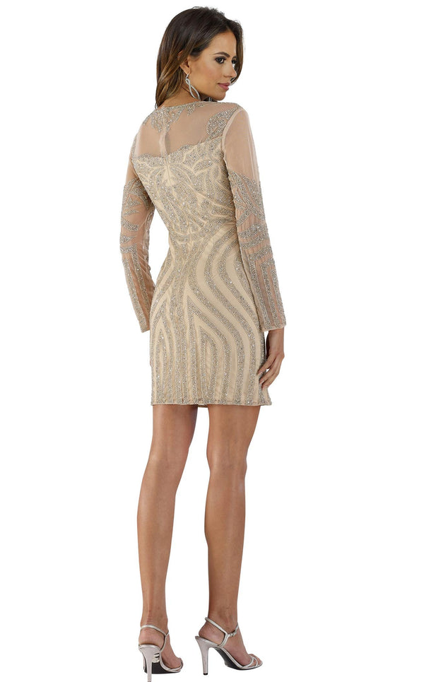Lara 29489 Dress Nude-Silver