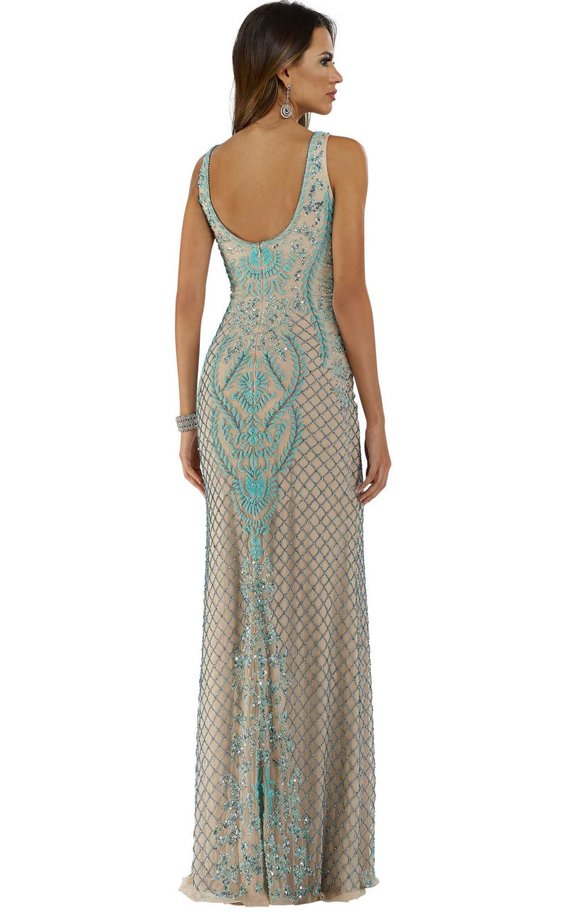 Lara 29711 Dress Nude-Turquoise