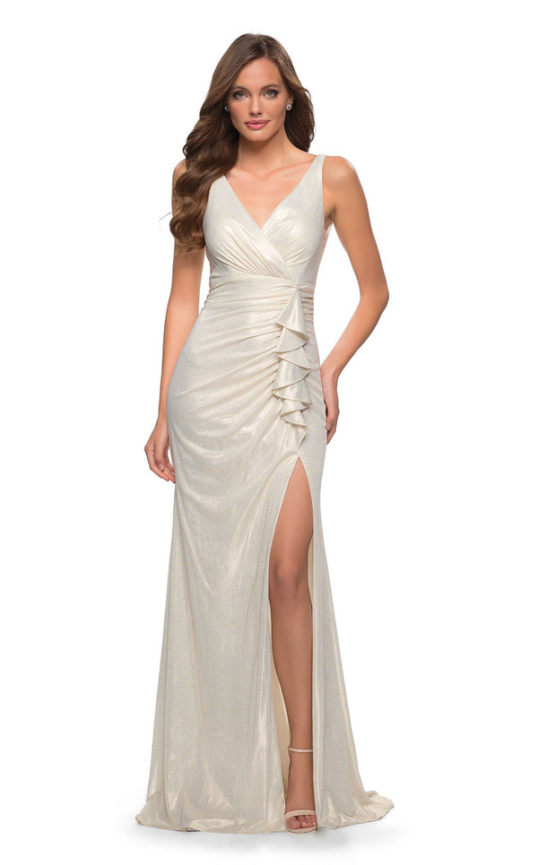 La Femme 29759 Dress White-Gold
