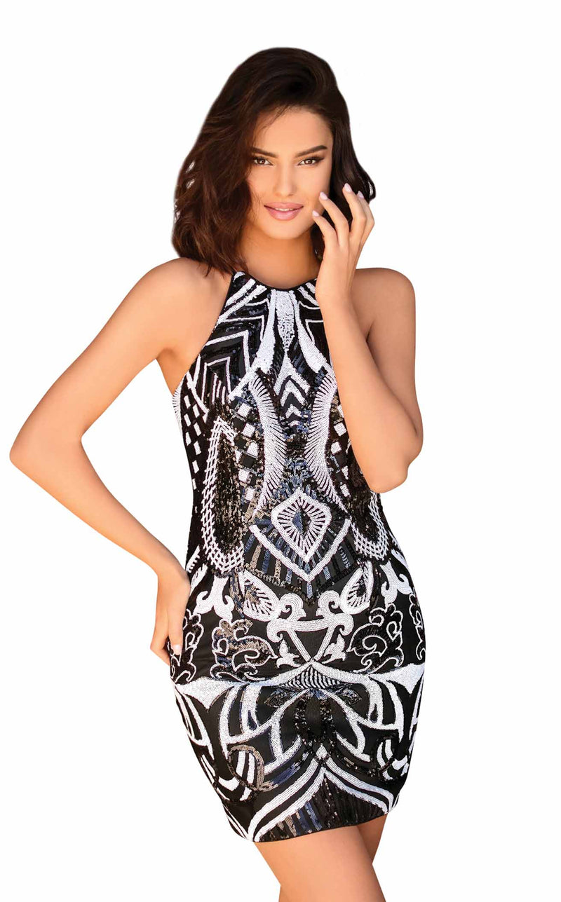 Clarisse 30159 Dress Black-White