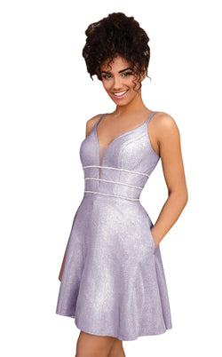 Clarisse 30182 Dress Shimmer-Lilac