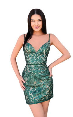Clarisse 30187 Dress Emerald-Nude
