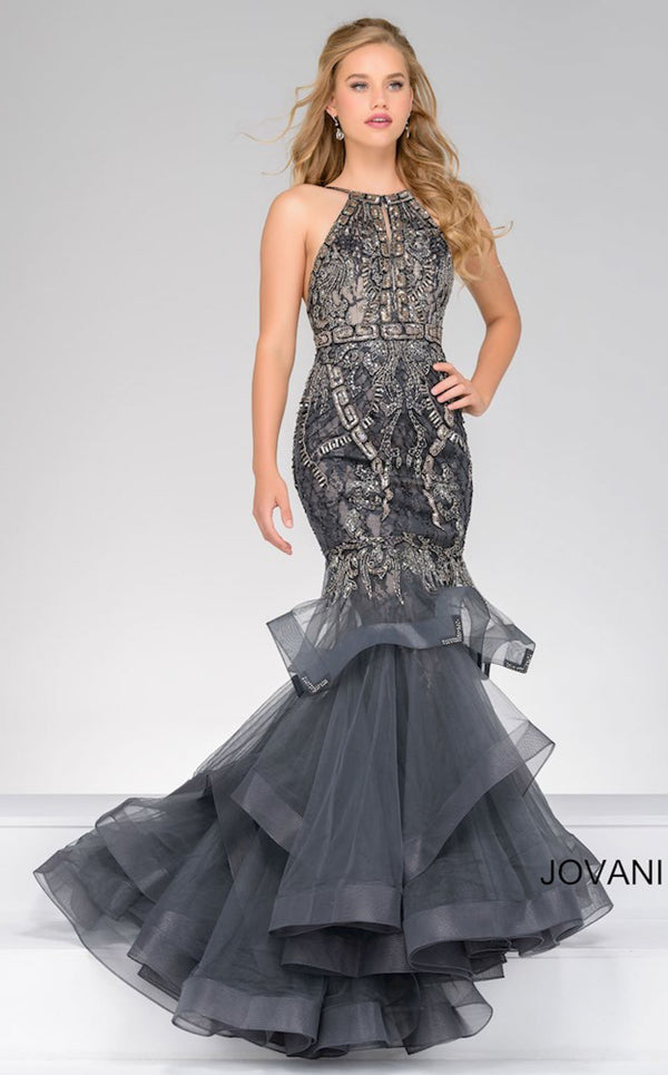 Jovani 31554 Dress Gunmetal