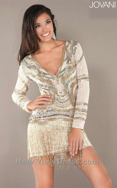 Jovani 2676 White/Gold