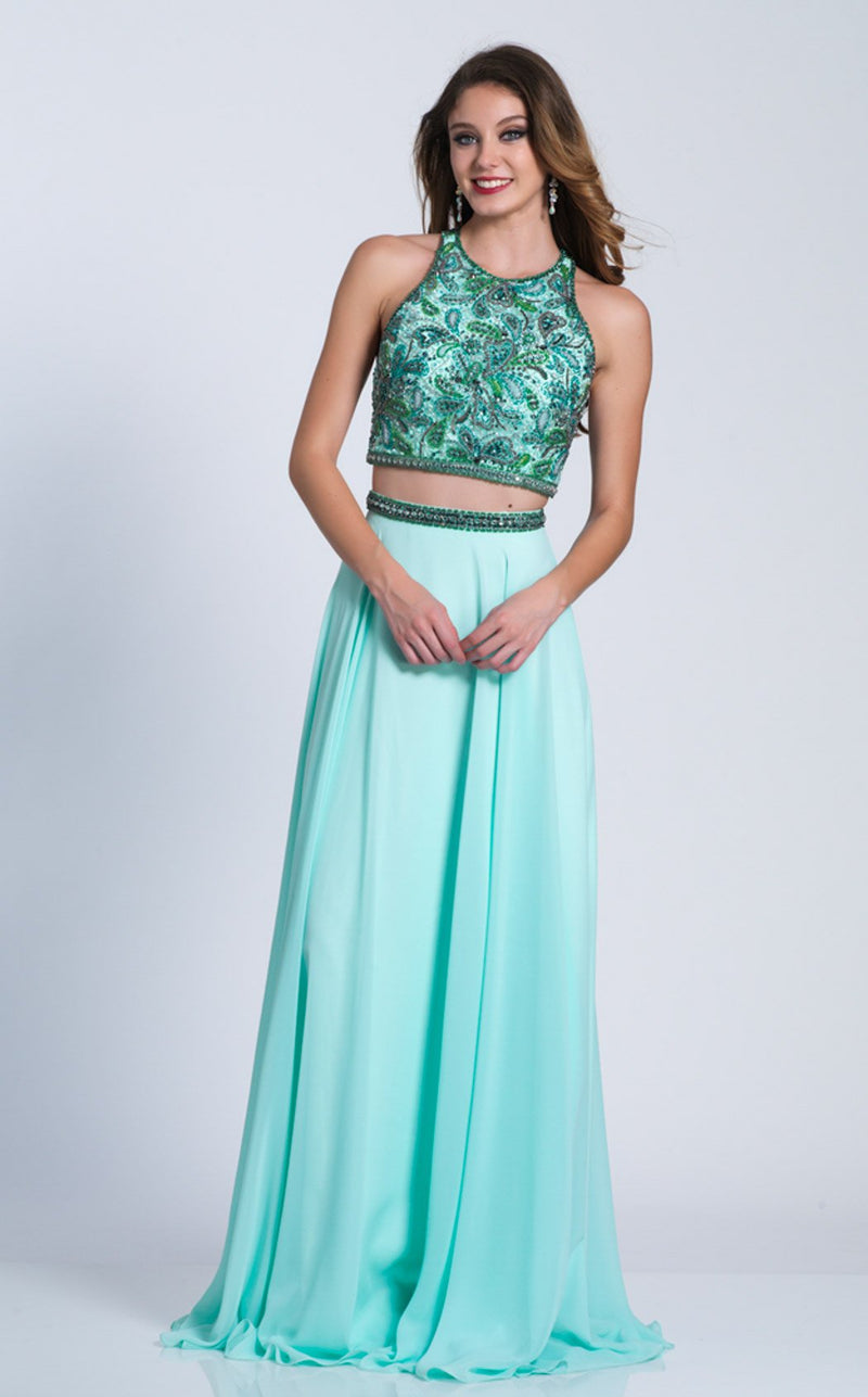 Dave and Johnny 3341 Dress Aqua