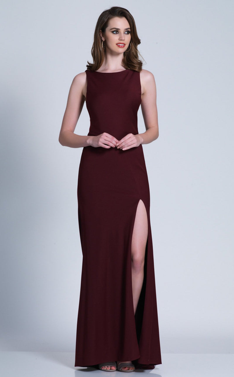 Dave and Johnny 3348 Dress Burgundy