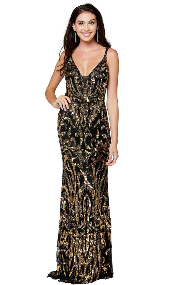 Primavera Couture 3454 Black-Gold