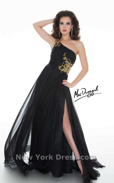 Mac Duggal 64403M Black/Gold