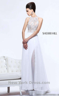 Sherri Hill 21110 White/Nude