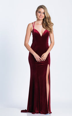 Dave and Johnny 3582 Dress Burgundy