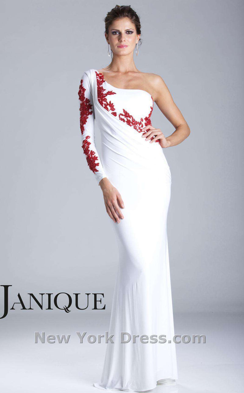 Janique K6040 Ivory/Red