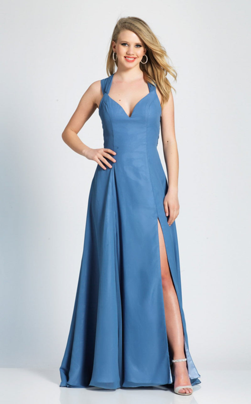 Dave and Johnny 3972 Dress Smoke-Blue